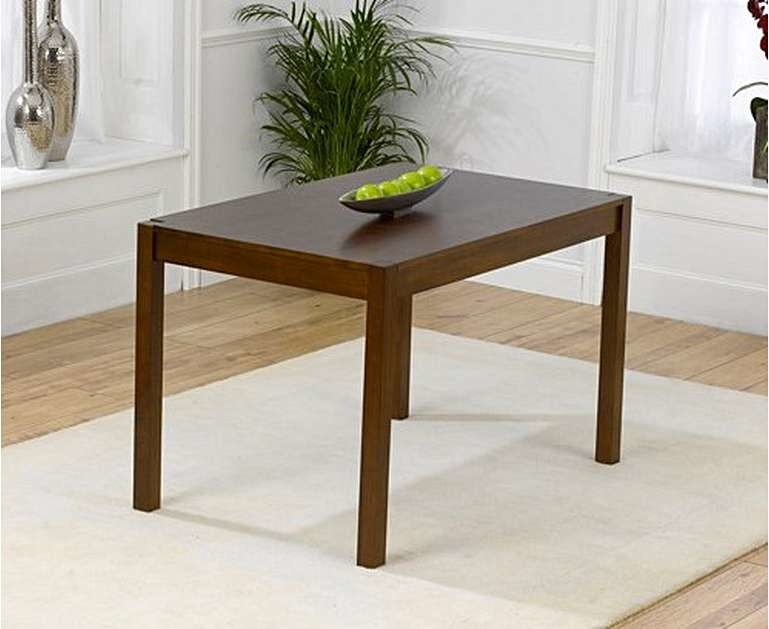 Product photograph showing Ex-display Oxford Dark Solid Oak 120cm Dining Table