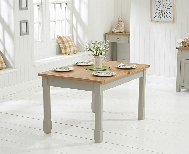 Ex-display Somerset 130cm Oak and Grey Extending Dining Table