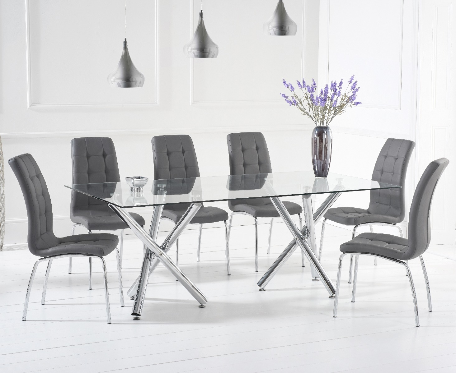An image of Ella 200cm Dining Table With Calgary Chairs