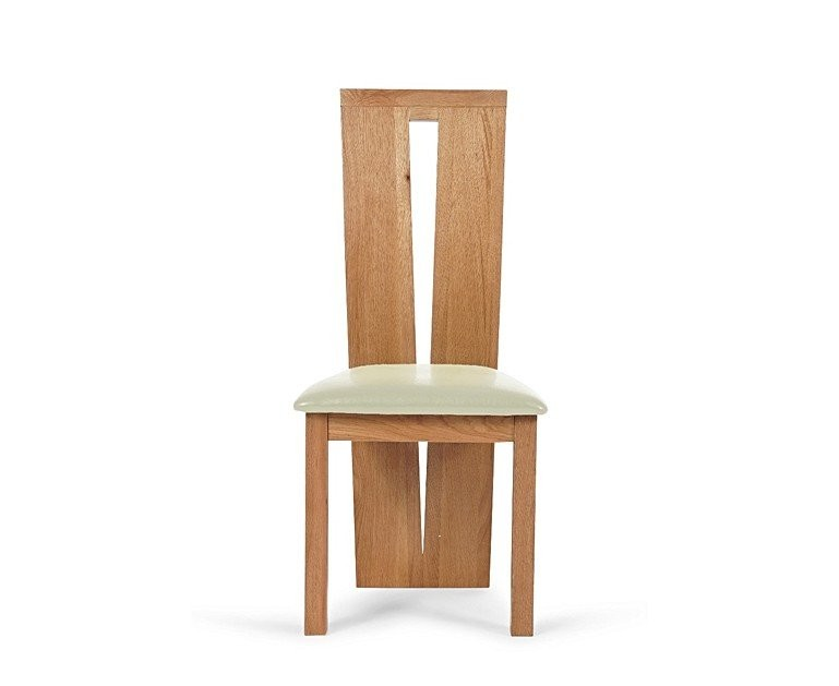 Ex-display Set of FOUR Montreal Solid Oak and Cream Dining Chairs