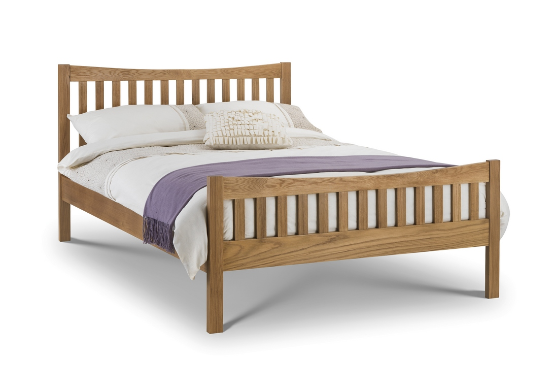 Product photograph showing Bergamo Solid Oak Bed