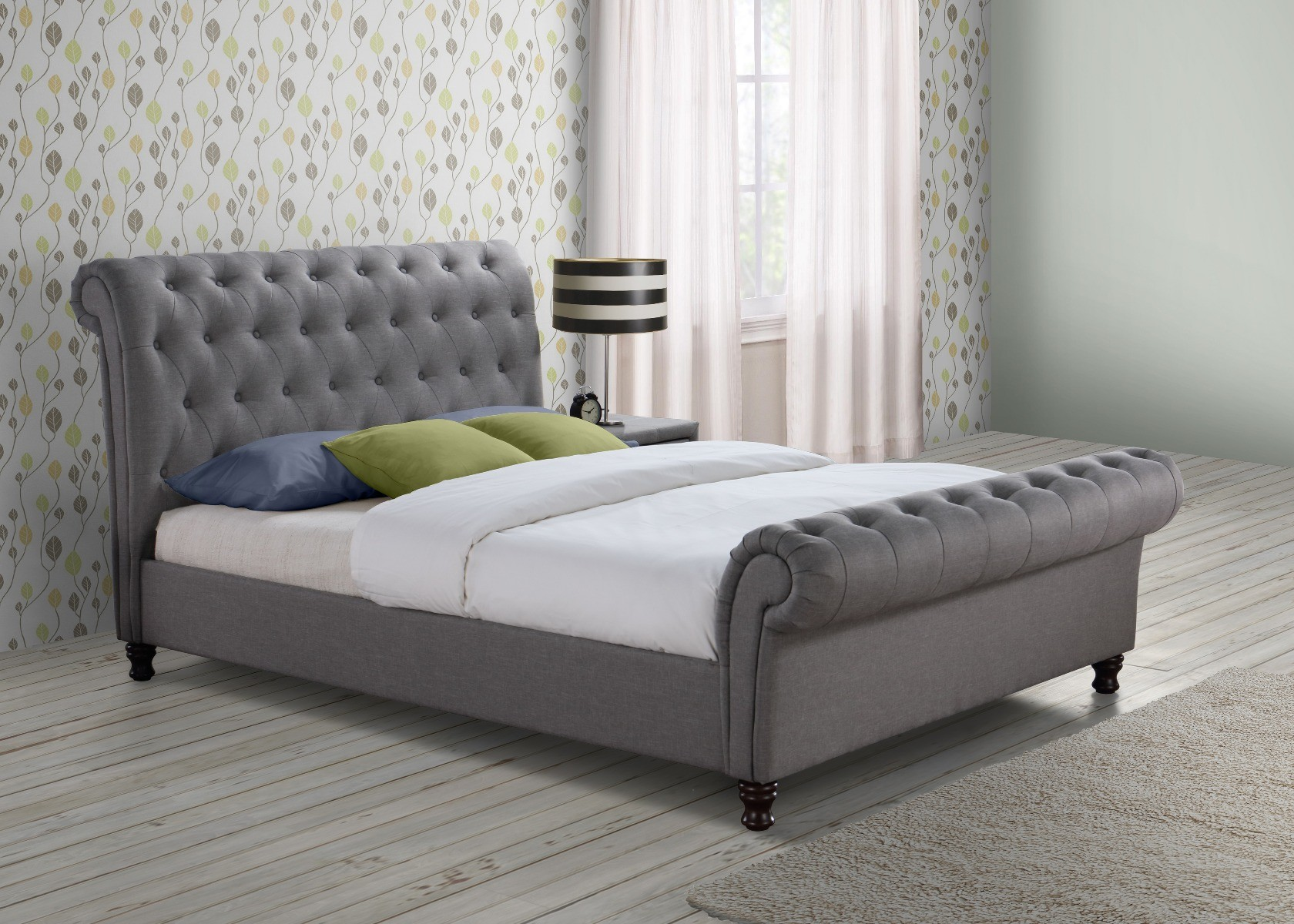 Product photograph showing Arkansas Grey King Size Bed