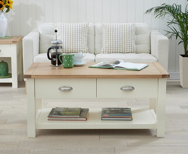 An image of Somerset Oak and Cream Coffee Table