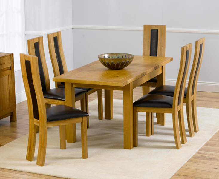 Product photograph showing Normandy 120cm Solid Oak Extending Dining Table With Toronto Chairs - Grey 4 Chairs