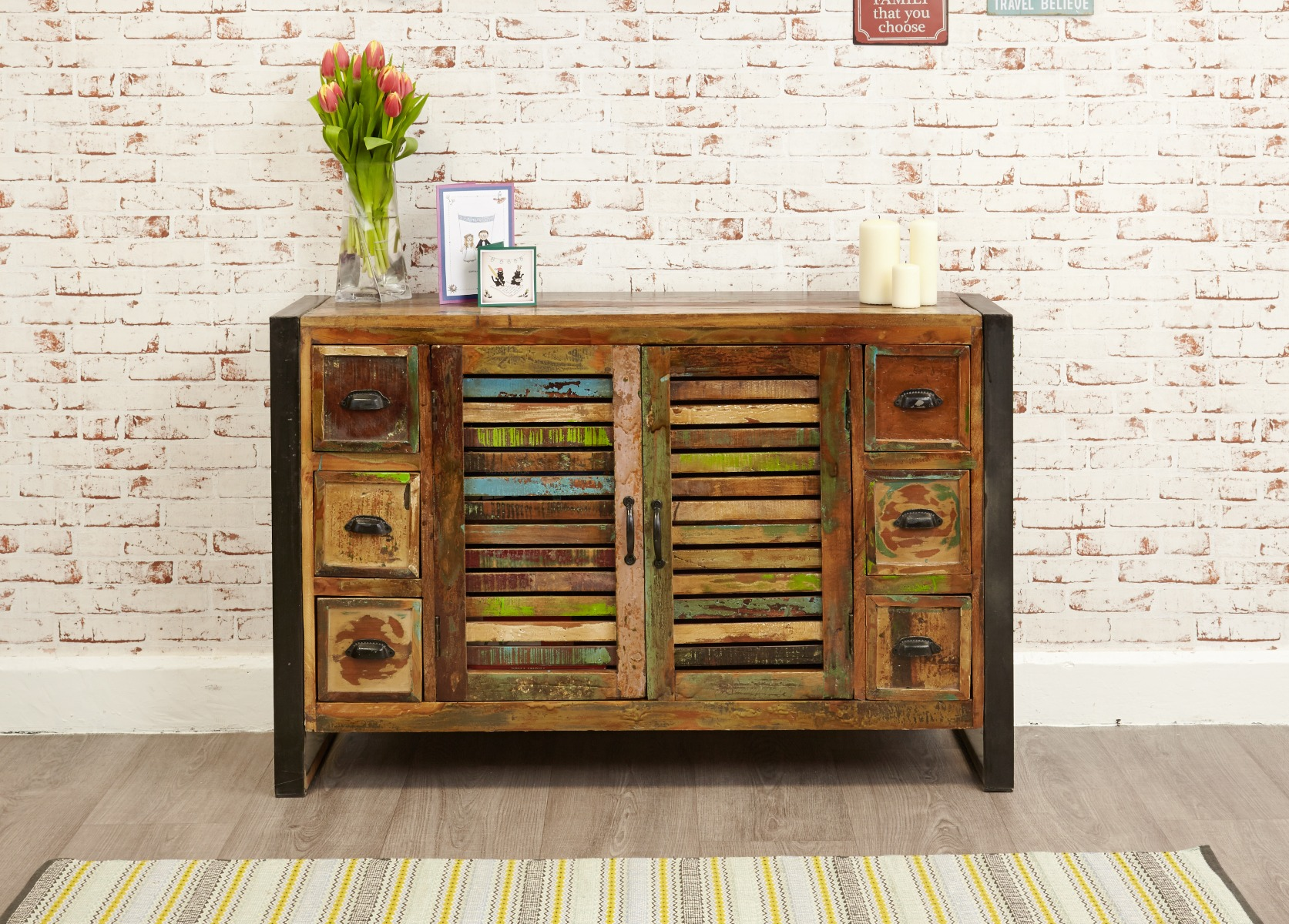 An image of Downtown Modern 6 Drawer Sideboard