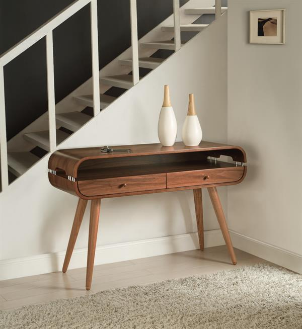 An image of Helsingborg Walnut Console Table
