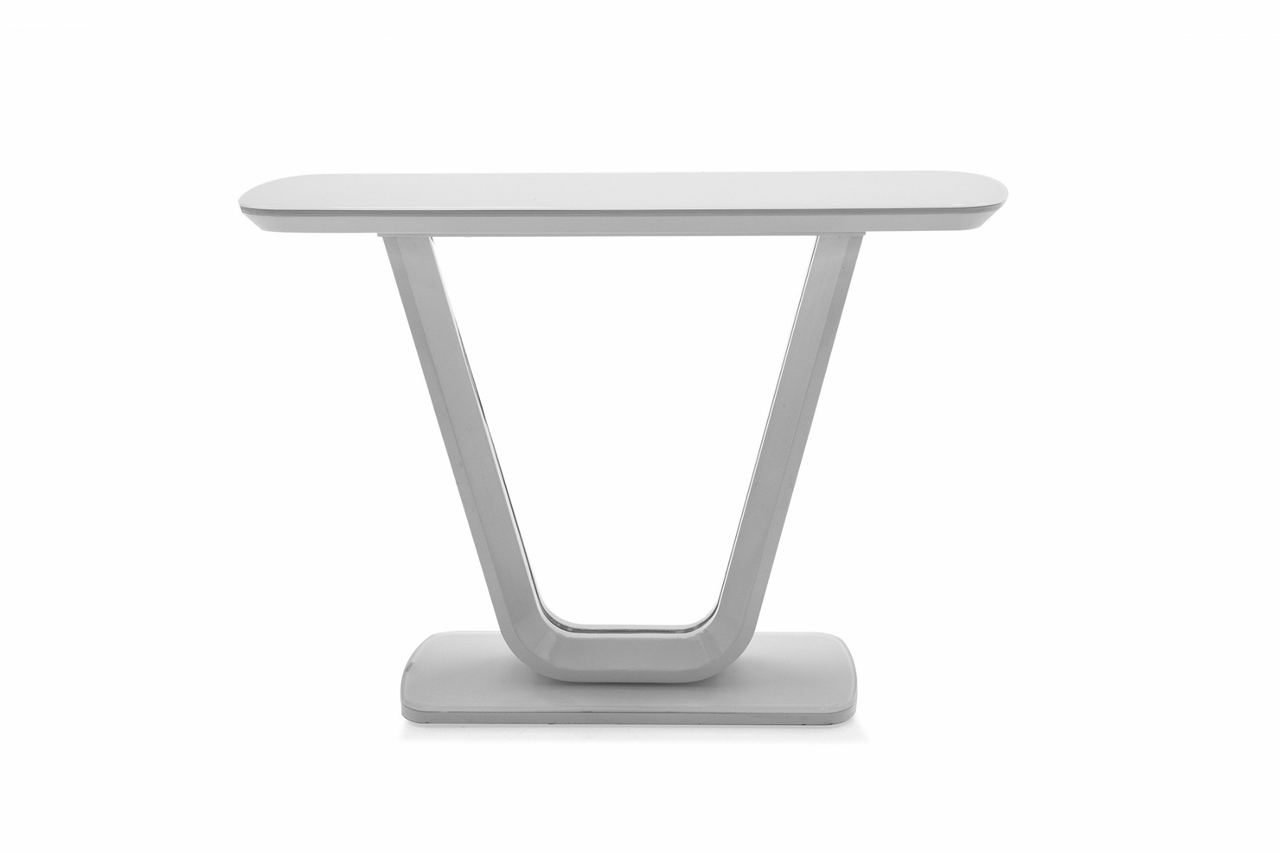 An image of Lazzaro White Console Table