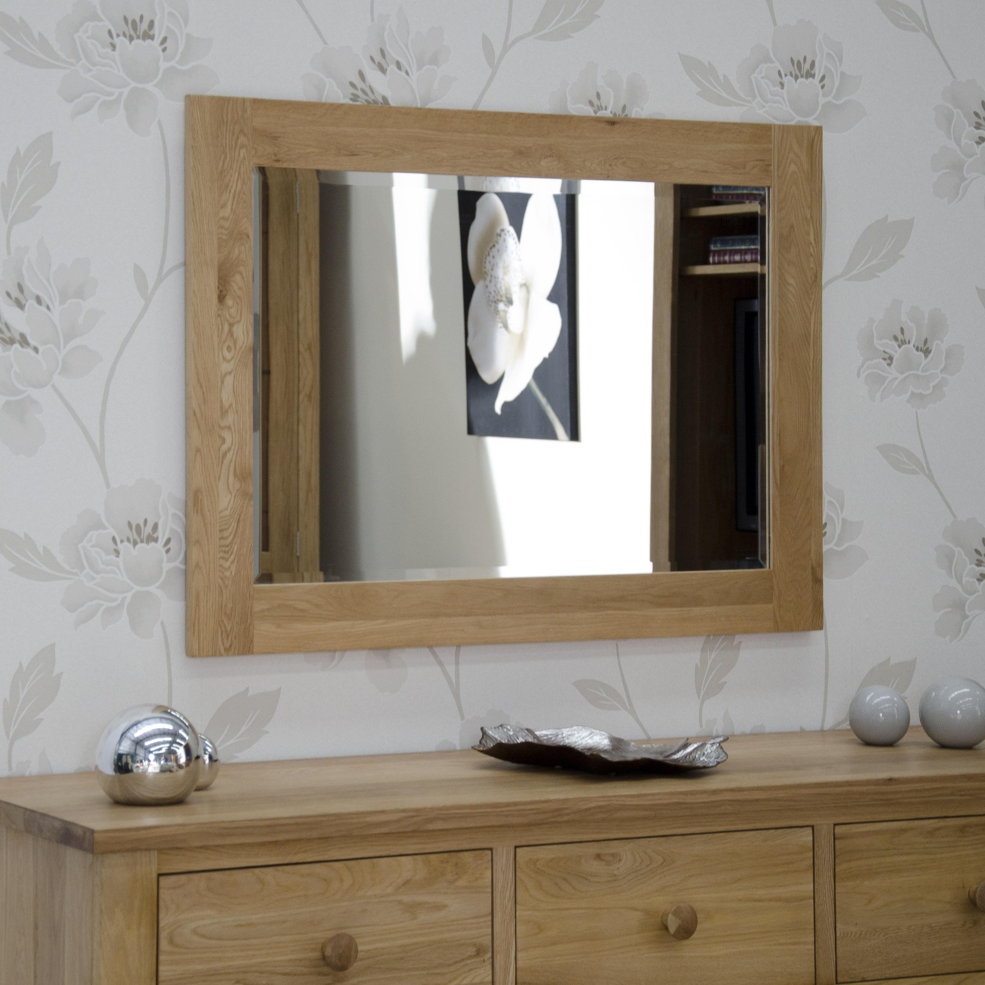 Product photograph showing Rohan Oak 1020 X 720 Mirror
