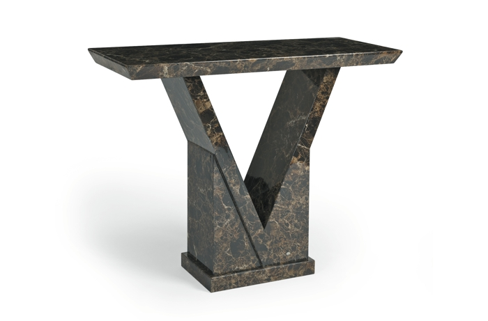 An image of Mocha Marble Console Table