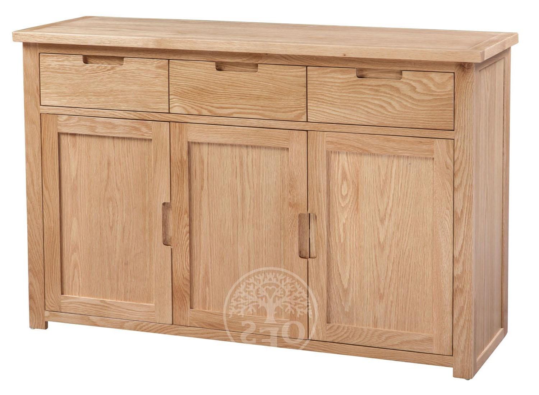 An image of Melrose Oak Large Sideboard