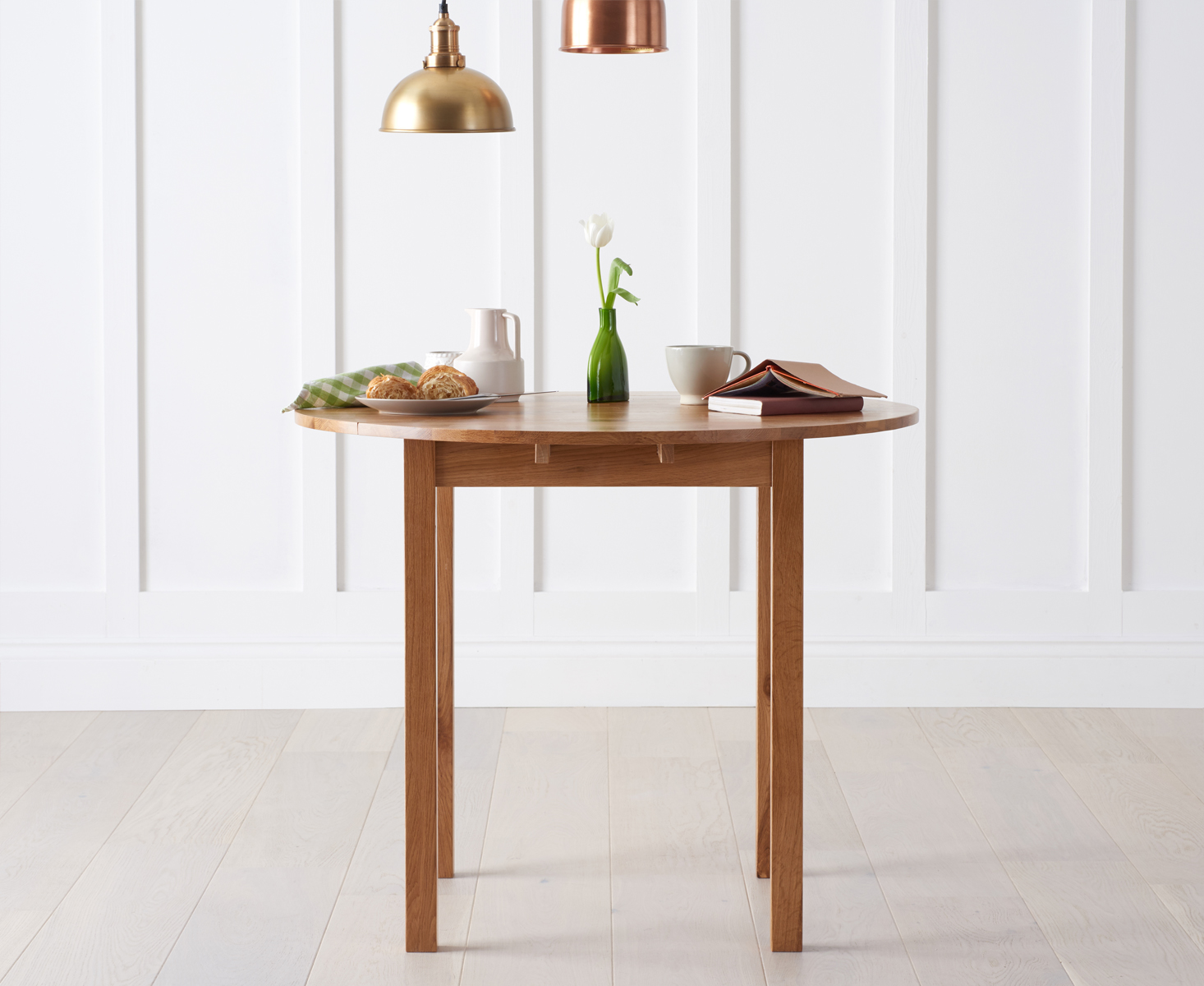 Photo of Oxford 90cm solid oak extending dining table