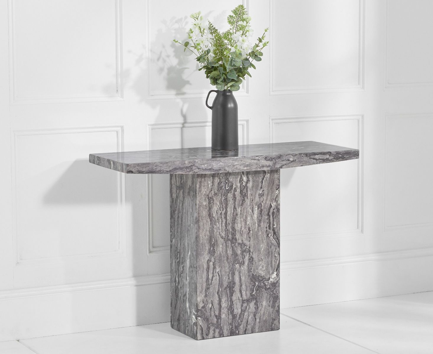 An image of Crema Grey Marble Console Table