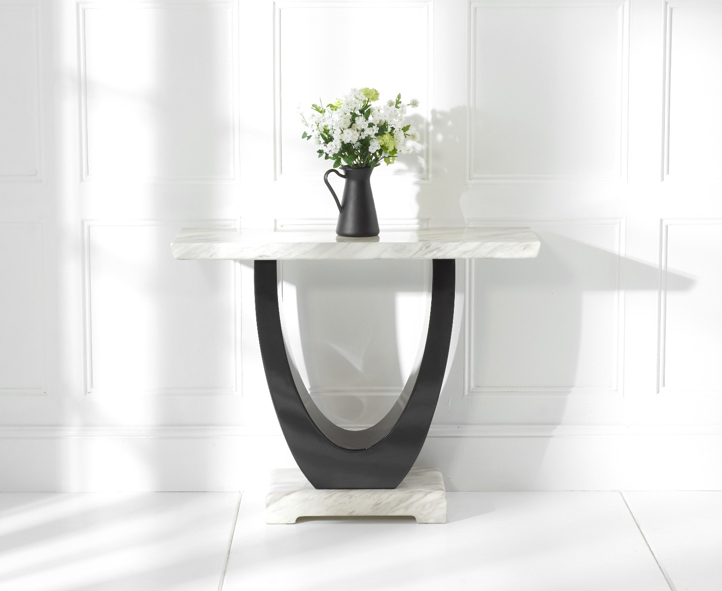An image of Raphael Cream Marble Console Table