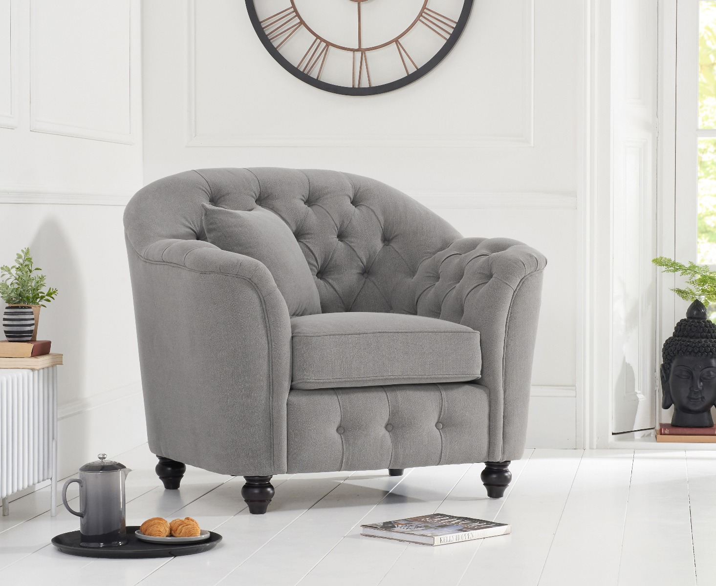 Product photograph showing Christopher Grey Linen Armchair