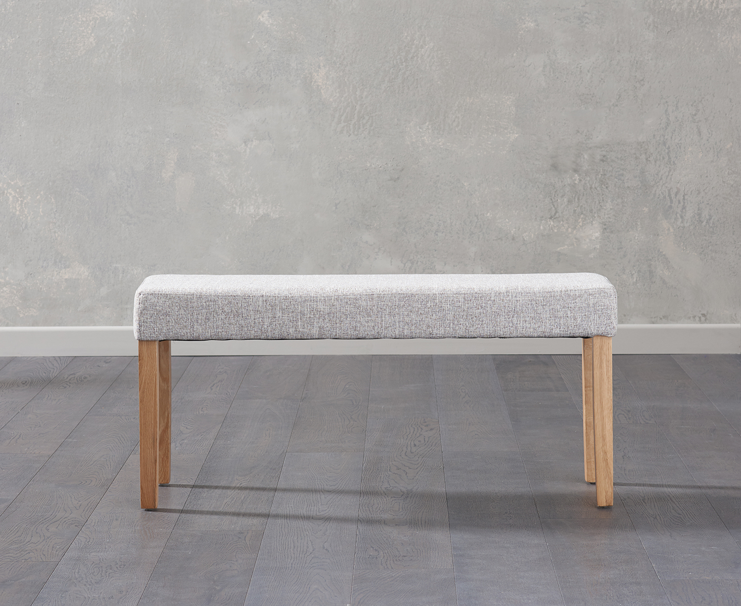 Product photograph showing Mia Small Grey Bench