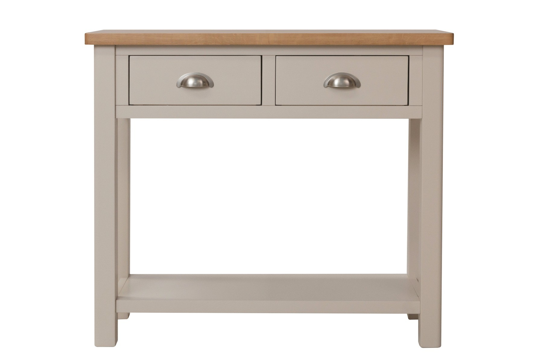 An image of Cole Oak and Truffle Grey Console Table