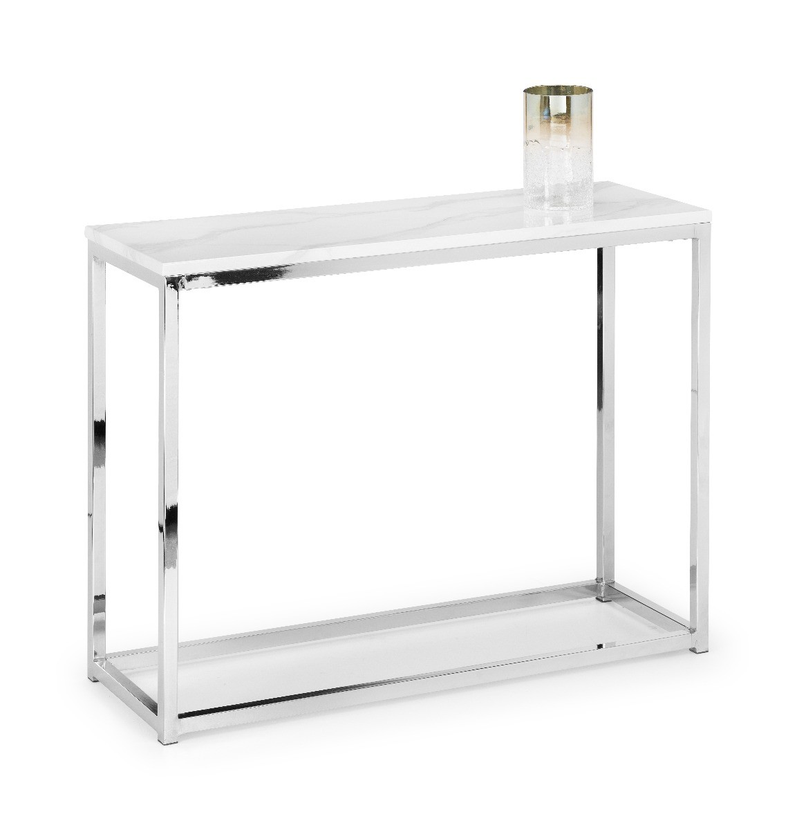 An image of Scala White Marble Console Table