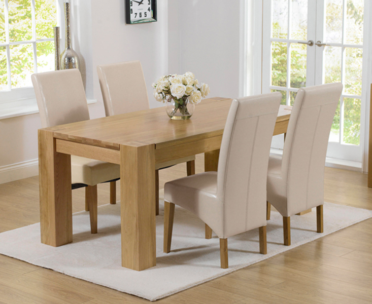 An image of Thames 150cm Oak Dining Table with Cannes Chairs