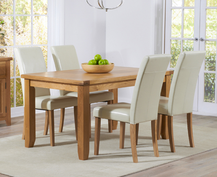 An image of Yateley 140cm Oak Dining Table with Albany Chairs