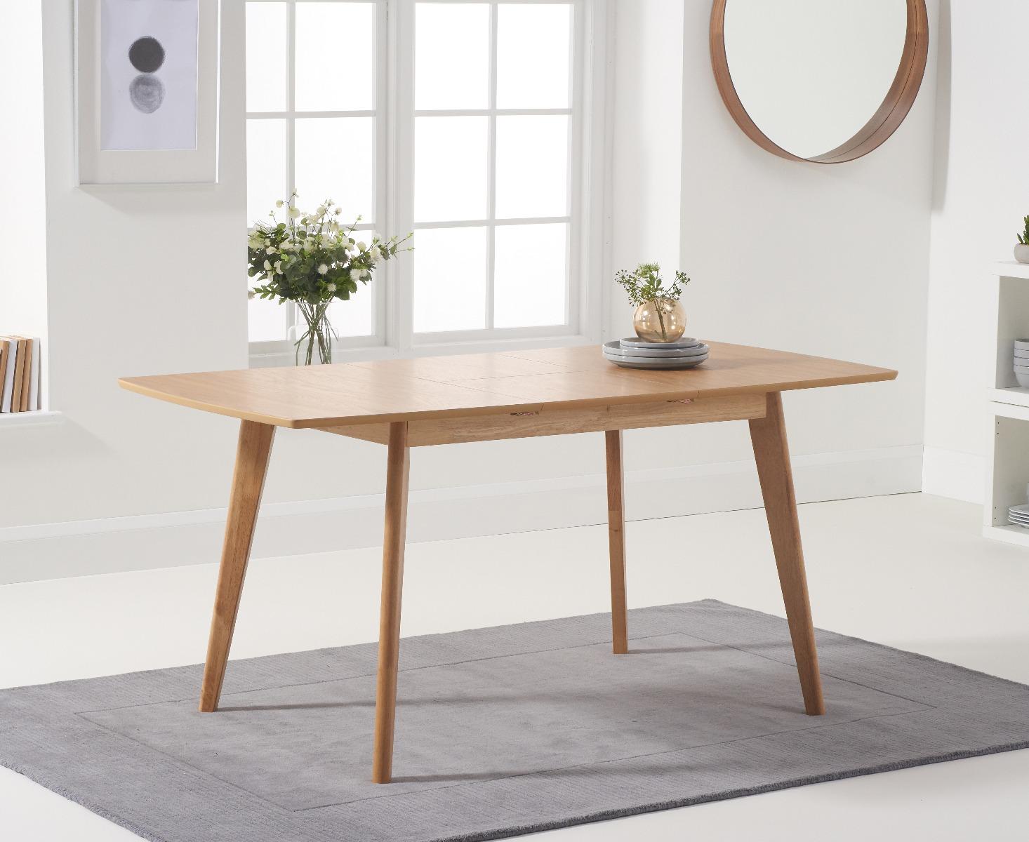 Sacha 120cm Oak Extending Dining Table