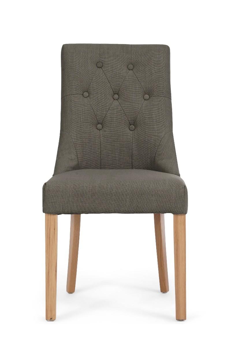 Pacific Beige Fabric Oak Leg Dining Chair