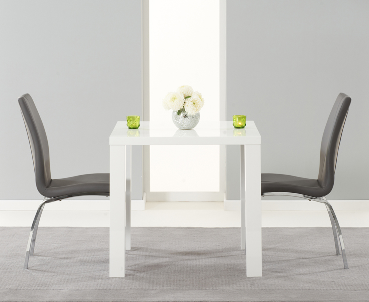 various colors 987c1 373d8 Atlanta 80cm White High Gloss Dining Table with Cavello Chairs