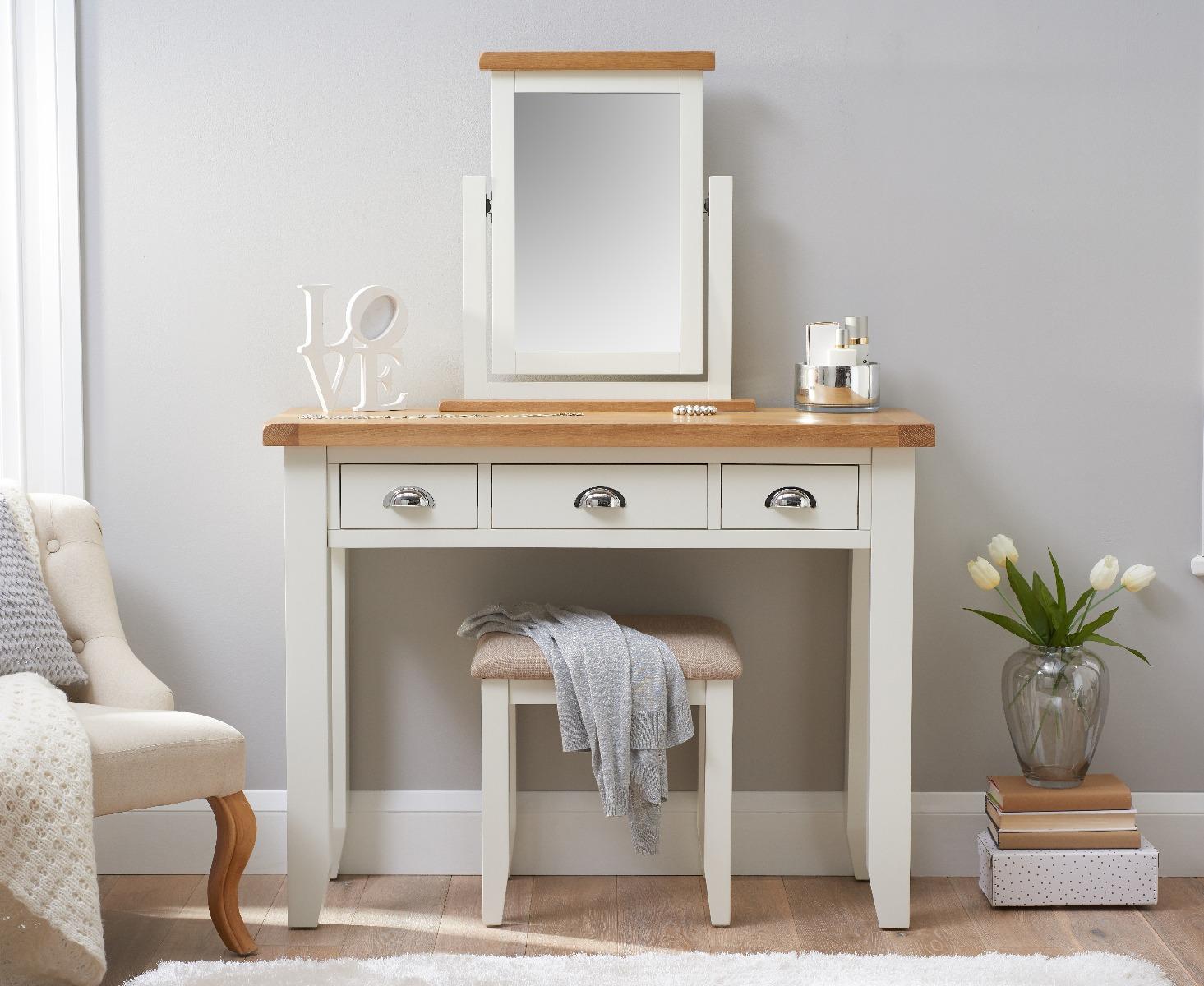 Eden Oak And White Dressing Table