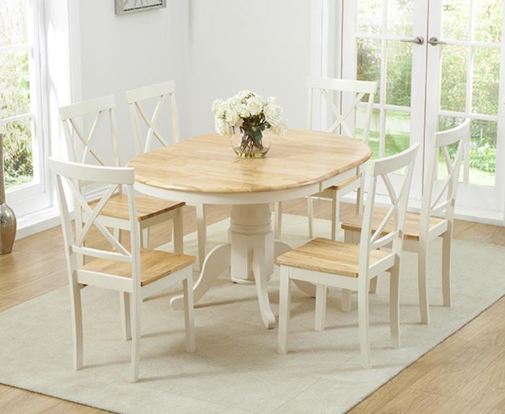 Epsom Cream Pedestal Extending Dining, Round Pedestal Extending Dining Table