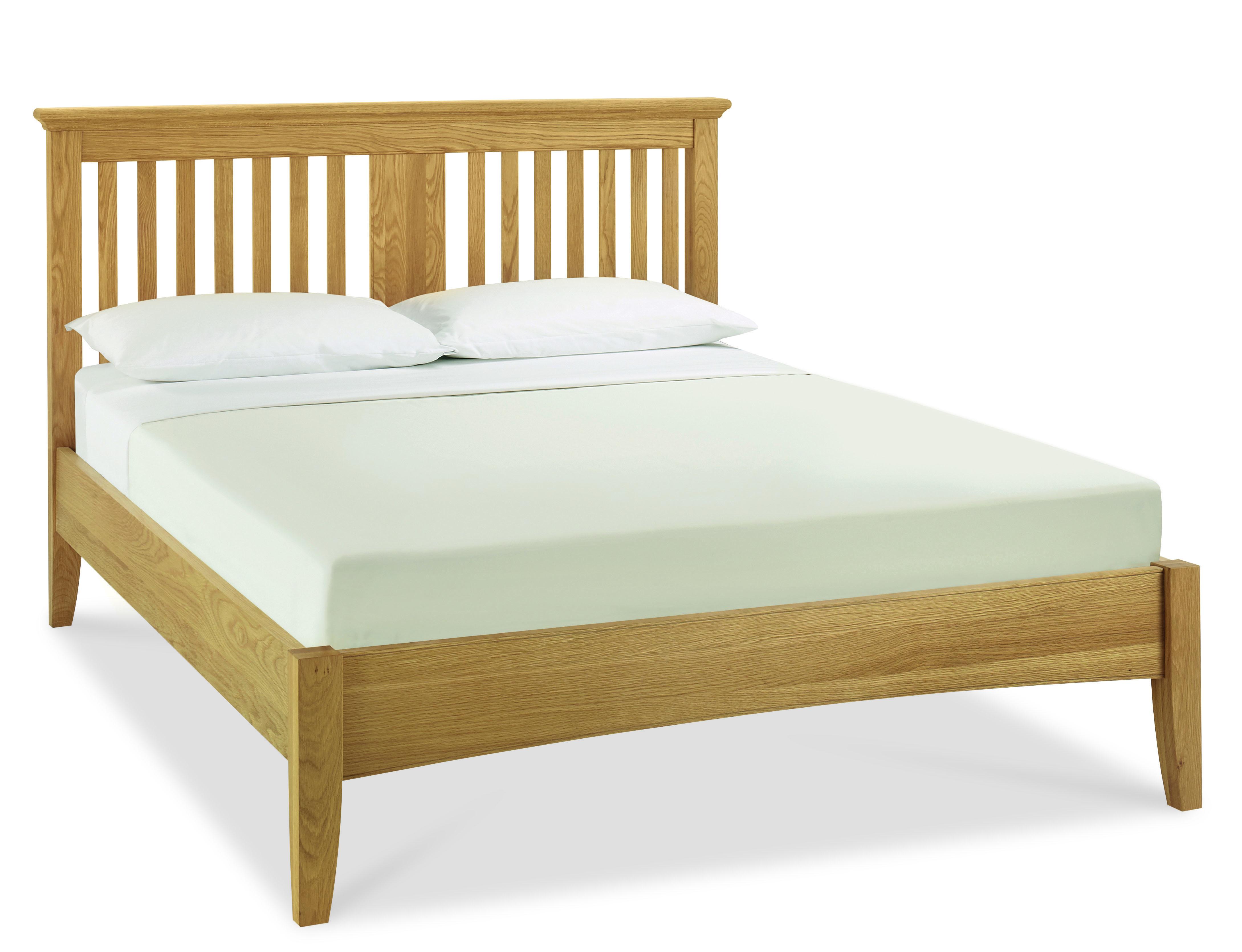 Heronford Oak Slatted Headboard King Size Bed Frame