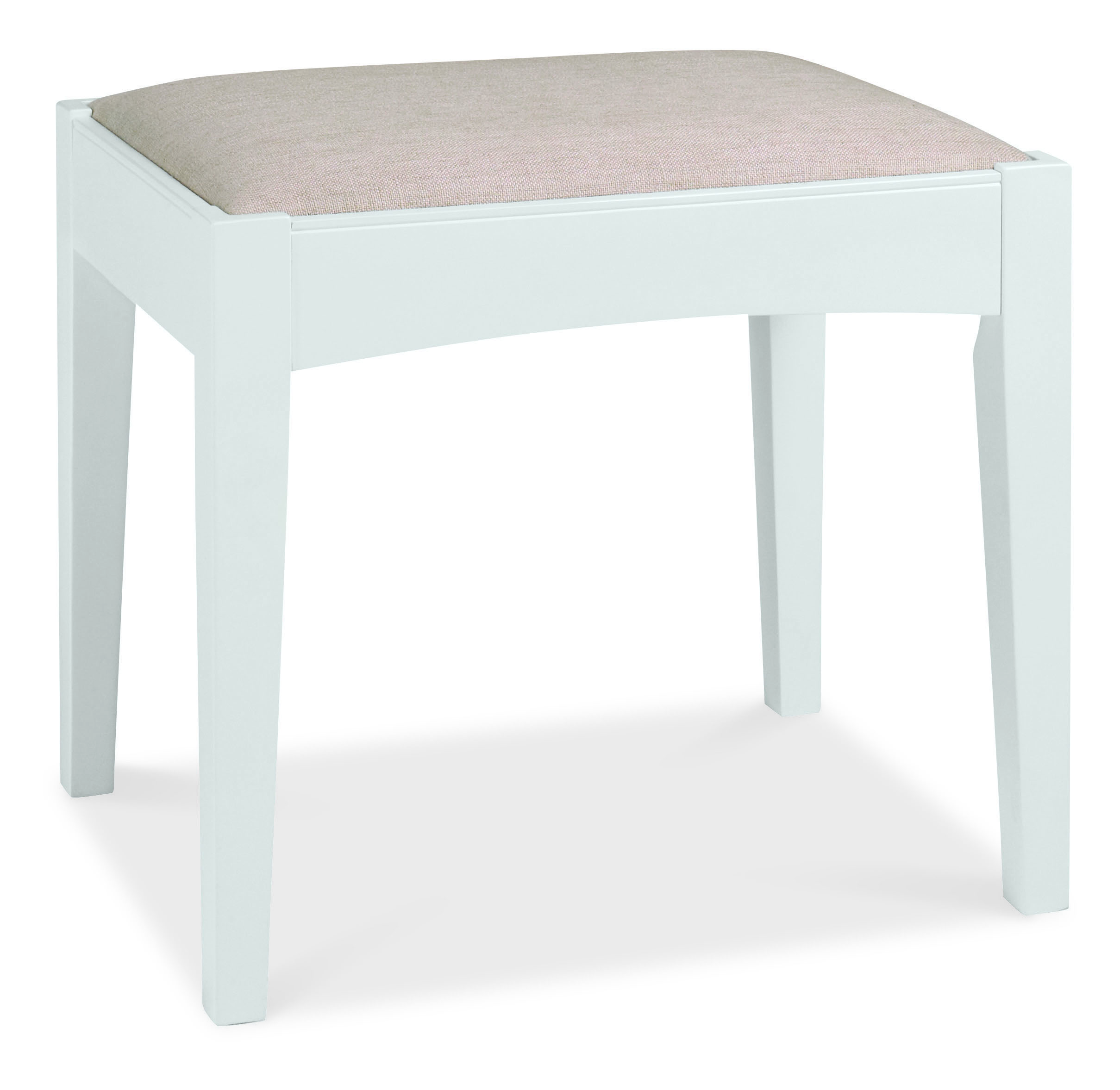 Heronford White Dressing Table Stool
