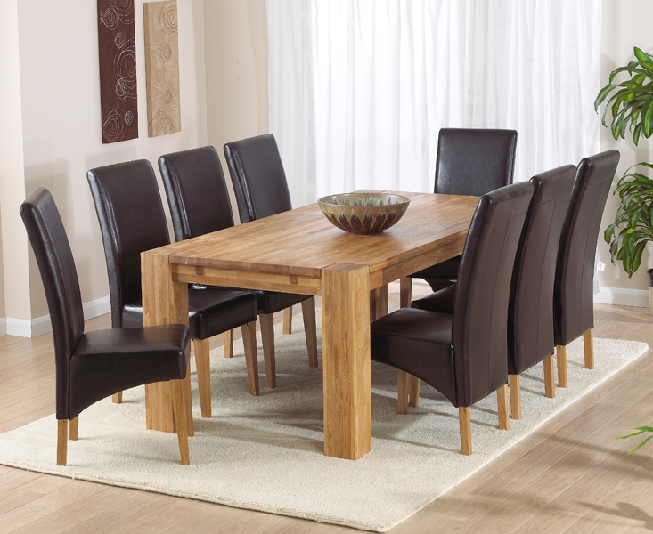Madrid 200cm Solid Oak Extending Dining Table With Cannes Chairs Spare Products For Sales