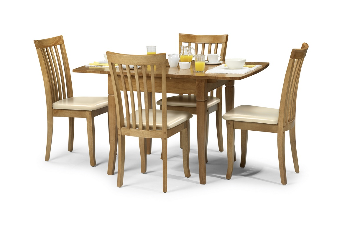 Newberry 130cm maple extending dining table and chairs