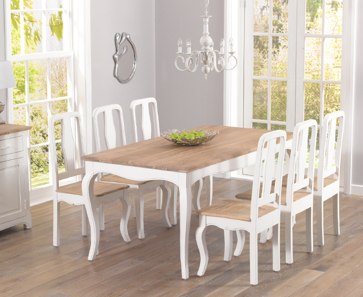 parisian 175cm shabby chic dining table and chairs rh oakfurnituresuperstore co uk shabby chic dining table and chairs for sale shabby chic dining table and chairs set