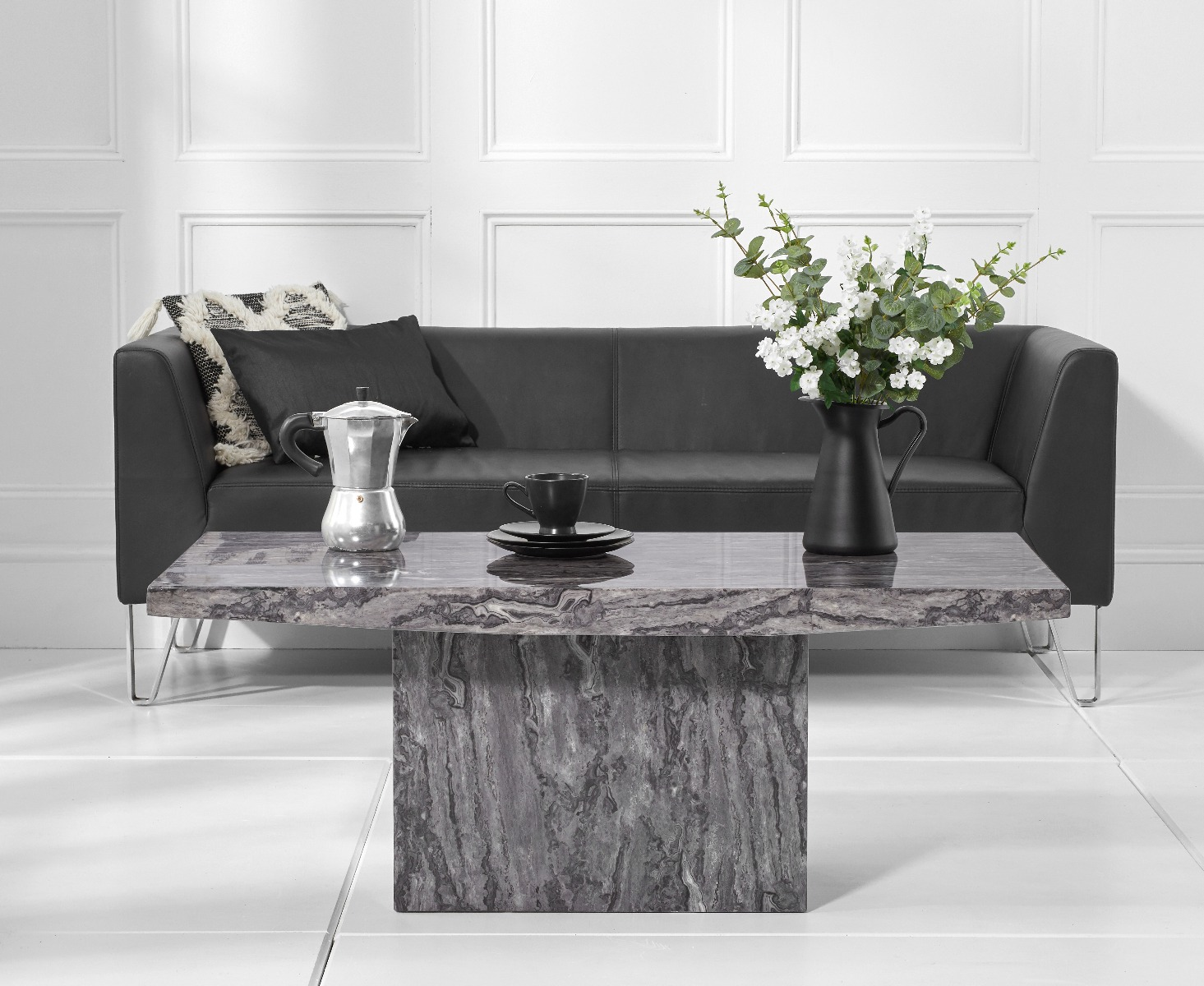 Crema Grey Marble Coffee Table Oak Furniture Superstore