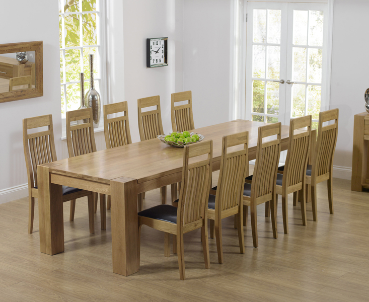 Thames 300cm Oak Dining Table With Monaco Chairs Thames