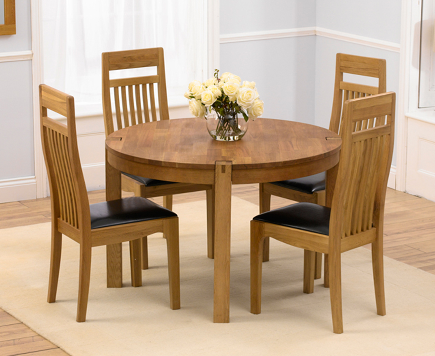Verona Round Dining Table with 4