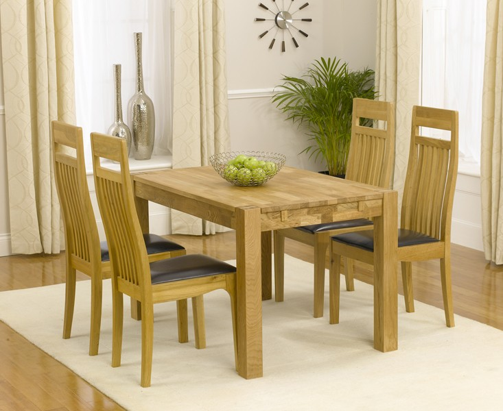 Superb Verona 120Cm Solid Oak Dining Table With Monaco Chairs Home Interior And Landscaping Ologienasavecom
