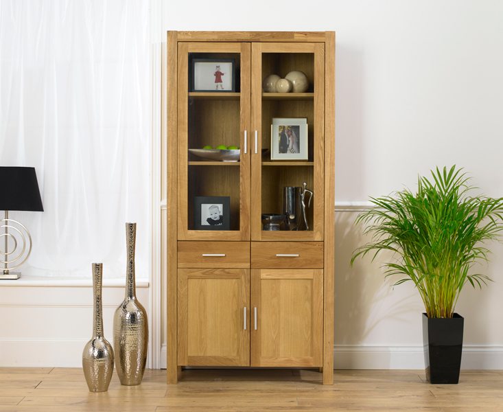 & Verona Oak Display Cabinet