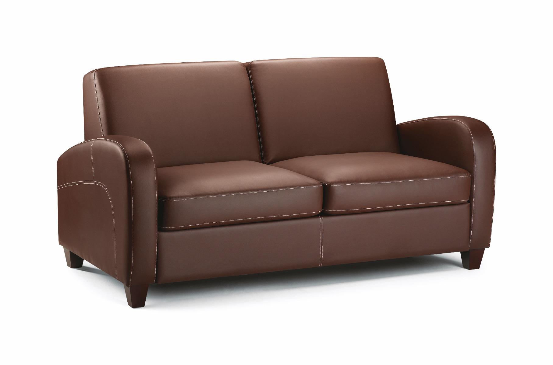 Marvelous Vesta Chestnut Faux Leather Sofa Bed Lamtechconsult Wood Chair Design Ideas Lamtechconsultcom
